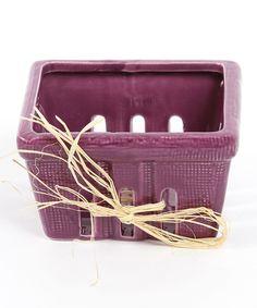 Small Purple Ceramic Berry Basket