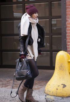 Street Fashion At New York Fashion Week