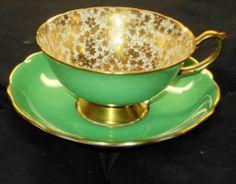 Hammersley England Gold Glitter Green Chintz TEA CUP AND Saucer | eBay