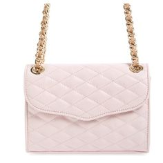 """Rebecca Minkoff Mini Quilted Affair Crossbody Bag Baby Pink Rebecca Minkoff™ Quilted Mini Affair.                                      Brand New With Tags. Dust bag included Handbag made of quilted leather. Top flap with a magnetic snap closure. Chain detailed strap. """"Rebecca Minkoff"""" engraved plaque accent at the back. Flat bottom to provide upright structure. Lined interior features a slip pocket. Bottom Width: 8 in Depth: 1 1⁄2 in Height: 6 in Strap Length: 48 in Strap Drop: 22 1⁄2 in…"""
