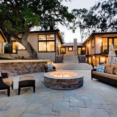 Flagstone Patio With Fire Pit Design Ideas, Pictures, Remodel, and Decor - page 3