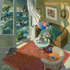 Michael Sowa 2015 Wall Calendar: 9781931432887     Calendars.com That's me reading!