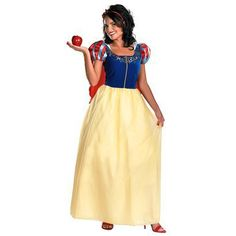 Snow White Deluxe Adlt Costume $37 might not scare the kids!