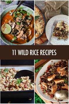 Add the nutty flavour of Wild Rice to stuffings, stews, burgers, pilafs and soups with these 11 recipe ideas. Wild Rice Recipes, Brown Rice Recipes, Beef Recipes, Savoury Dishes, Tasty Dishes, Rice Dishes, Canadian Food, Canadian Recipes, Healthy Grains