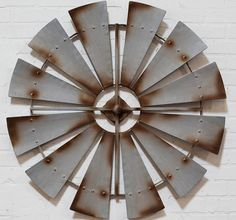 Add an old #farmhouse feel to your room with this charming relic inspired #large #windmill