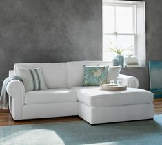 Claremont Upholstered Sofa with Reversible Chaise Sectional