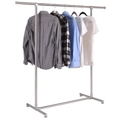 Portable And Expandable Garment Rack In Black Chrome 18 Months Pleasing Product Image For Dual Bar Adjustable Garment Rack 2 Out Of 2
