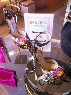 Jimmy Choo Flower Phyton Sandals Outlet Sale