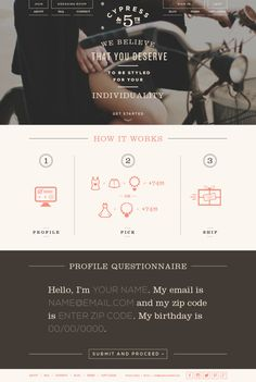 Cypress & Branding + Website on Web Design Served Minimal Web Design, Web Ui Design, Graphic Design Branding, Typography Design, Flat Design, Layout Design, Web Layout, Tool Design, Website Design Inspiration