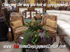 Patterned accent chairs!