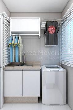 Lavandería muy pequeña. hay que aprovechar el espacio.