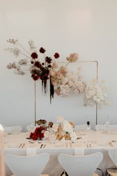 Reception at the Museum of Contemporary Art, Sydney Decoration Table, Reception Decorations, Event Decor, Wedding Flower Decorations, Modern Wedding Flowers, Floral Wedding, Wedding Mood Board, Wedding Table, Wedding Themes