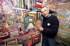 Sixty-year-old Mr McHugh now spends up every day decorating his walls with a brush since the internal bleed altered his mind. Brain Hemorrhage, Farm Hero Saga, Pablo Picasso, Street Fighter, Super Powers, The Incredibles, Artist, Thrillers, Painting