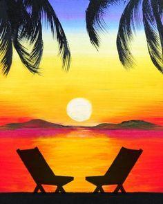 Картинки по запросу sunset painting