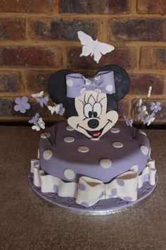 Ms Minnie mouse cake for birthday