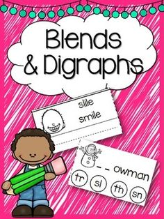 This download includes 10 worksheets to help teach phonics blends and digraphs. 5 worksheets present a picture with possible blend/digraph options. The student will choose the correct answer and color it in. The second five worksheets show a picture and two words.