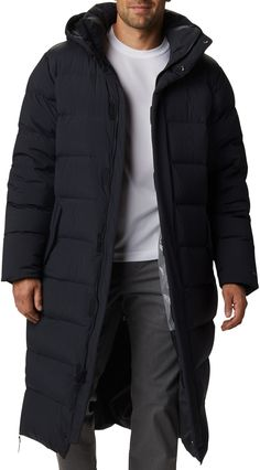 Long Winter Coats, Winter Coats Women, Coats For Women, Winter Jackets, Mens Down Parka, Columbia, Mens Overcoat, Long Puffer Coat, Men Coat