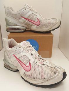 a75a5925ba35e Nike Air Max 90 White Pink 314021-062 Womens Size 8 Swoosh Athletic Tennis  Shoes