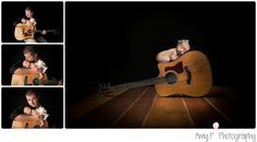 newborn | newborn baby | newborn session | baby on guitar | daddy and baby | Baby girl | wooden floors during session | photography | photograph | photo session |