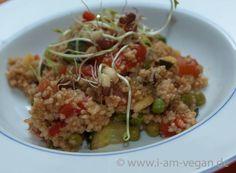 Frischer Couscous-Asia-Salat