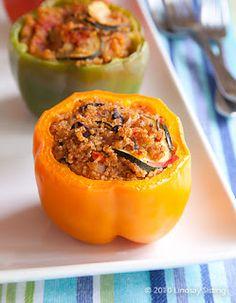 Quinoa Stuffed Peppers ` Jillian Michaels recipe #health #weightloss #yum