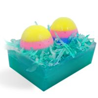 MP Soap Recipe: Easter Eggs in Basket Soap. This bar is all soap! Fun project to do with kids around Easter. An alternative to coloring Easter eggs.