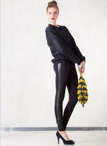 Leggings Leather Stripe