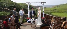 Getting married in Doolin. The wedding ceremony was carrried out on the deck at Sea View House in Doolin. The ideal location to elope to in Ireland. http://www.seaview-doolin.ie/doolin-wedding/