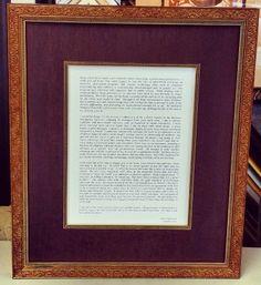 Beautiful eulogy displayed using a custom frame, linen matting, and matching fillet! #art #framing #denver #colorado