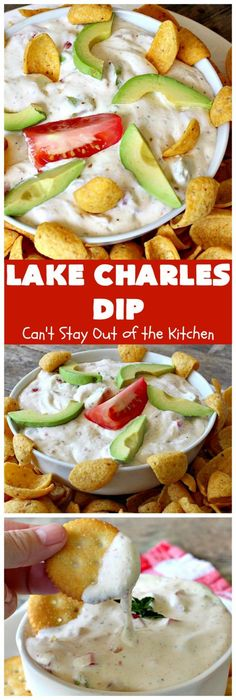 Lake Charles Dip Cant Stay Out of the Kitchen this fantastic dip uses salad dressing mix to provide one of the most spectacular dips ever Also includes takes less th. Cajun Appetizers, Appetizer Dips, Yummy Appetizers, Appetizer Recipes, Yummy Snacks, Delicious Recipes, Tasty, Dip Recipes, Cooking Recipes