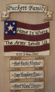 Home is where the Army Sends us - Yes. That's about right!