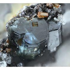 Osumilite-(Mg) & Cordierite ~ Nickenicher Weinberg, Andernach, Eifel Mountains, Germany