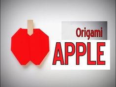Origami Apple।How to make an Origami Apple।easy origami paper Apple।Pape...