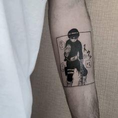 Manga Tattoo, Naruto Tattoo, Anime Tattoos, Dope Tattoos, Mini Tattoos, Body Art Tattoos, Tattoos For Guys, Rock Lee Naruto, Kawaii Tattoo