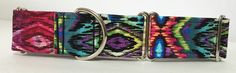 Multicolor Adjustable Martingale Dog Collar - Made to Order - by JinsK9Kreations on Etsy