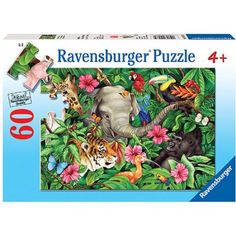 Ravensburger Tropical Friends Puzzle, 60 Pieces, Multicolor