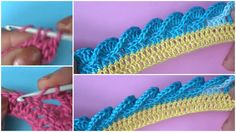 If you want to learn how to crochet beautiful and useful border which one will make your projects more attractive and creative we have searched in internet