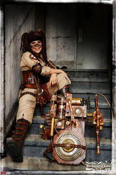 steampunk ghostbuster cosplay by JessDCosplay.deviantart.com on @DeviantArt