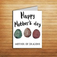 Items similar to Game Of Thrones Mothers Day Card Printable Mother Of Dragons Egg Got Gift Daenerys Targaryen Khaleesi Queen Illustrated Mum Birthday Card on Etsy Wedding Party Games, Birthday Party Games, Diy Birthday, Birthday Ideas, Game Of Thrones Cards, Game Of Thrones Dragons, Mothers Day Crafts, Happy Mothers Day, Word Games For Kids