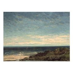 The Sea Canvas Art by Gustave Courbet - BL0340-C