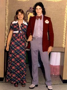 Ellen Degeneres in plaid at prom circa 1976 - AWESOME!