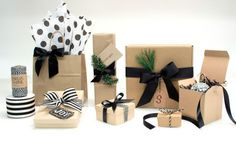 Nashville Wraps Black Ribbon Turns Brown Kraft Paper Into Something Divine! Read all about it in this blog!!