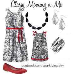 Matching Mommy Daughter Dresses, created by rachaelpainter on Polyvore