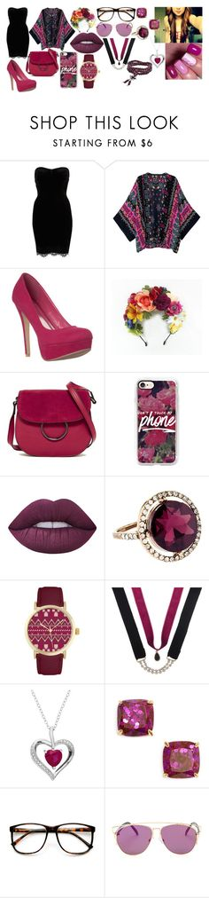 """""""Dusty Maroon"""" by dlk6 ❤ liked on Polyvore featuring River Island, French Connection, Casetify, Lime Crime, Accessorize, Jessica Carlyle, Decree, Kate Spade and ZeroUV"""