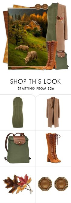 """""""Fall tones"""" by diane-randle ❤ liked on Polyvore featuring WearAll, Longchamp, Prada, Anne Klein and Louise et Cie"""