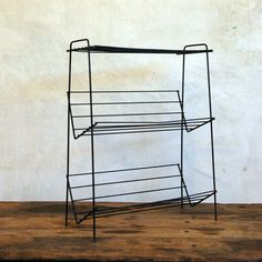 "@Etsy how awesome is this #Shelf  #Vintage Industrial Rack #metal  Measurements 20.25"" L x 26.5""H x 9""D $108.00 (too much) but i love this"