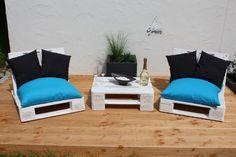 Garnituren - *Inkl.VERSAND - Lounge VENTURA im Set - Weiß - ein Designerstück von Woody-Dekor bei DaWanda