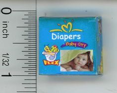 Dollhouse Miniature Box of Diapers by Cindi/'s Minis