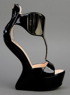 0fc06e725c4 Black patent leather sandals open round toe patent leather platform no heel  shoe 1