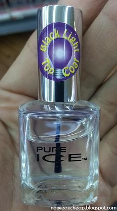 Black Light TOp Coat? Yes, please! ~ Spotted (again): Pure Ice Black Light Top Coat